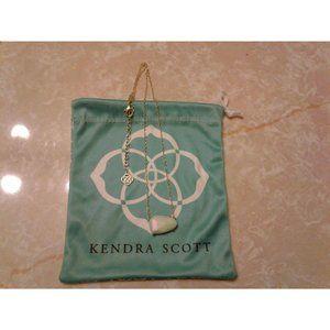 Kendra Scott White Iridescent Isla Necklace